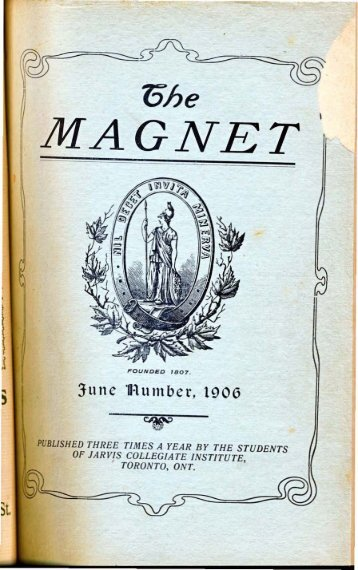 Jarvis Magnet - 1906 Volume 2 Number 3