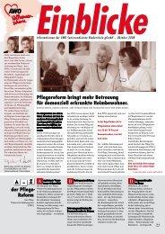 Informationen der AWO Seniorendienste Niederrhein gGmbH