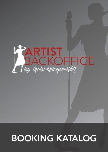 Artist Backoffice - Booking Katalog