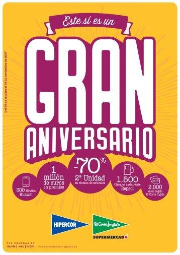 Folleto El Corte Inglés Supermercado Este sí es un GRAN ANIVERSARIO hasta 15 de Noviembre 2017