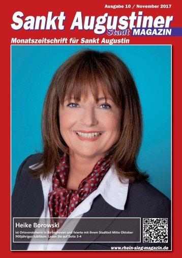 Sankt Augustiner Stadtmagazin, Ausgabe 10/ November 2017