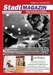 Stadtmagazin für Siegburg, Lohmar und Neunkirchen-Seelscheid, Ausgabe 10 / November 2017