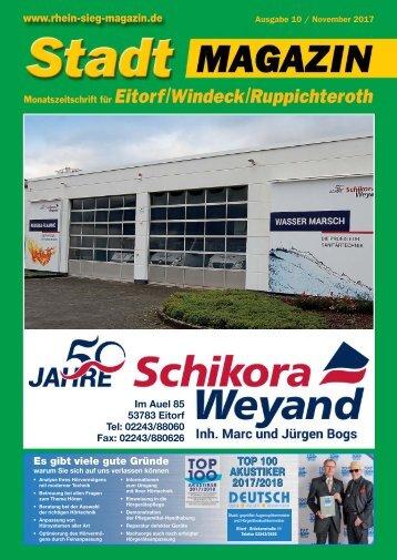 Stadtmagazin Eitorf, Windeck, Ruppichteroth, Ausgabe 10 / November 2017