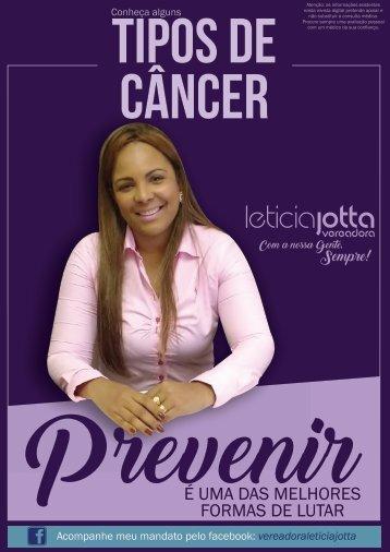 Tipos de Câncer - Vereadora Leticia Jotta