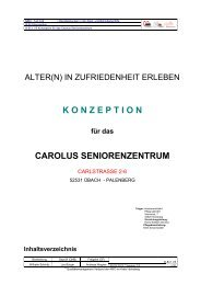 Konzeption Carolus Seniorenzentrum - AWO-HS