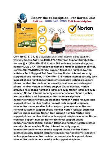 Cont 1800 570 1233 Norton Antivirus not protected error scanning error