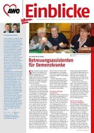 Betreuungsassistenten für Demenzkranke - AWO Bezirksverband ...