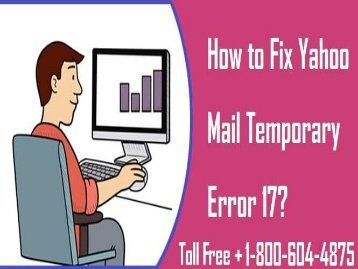 How To Fix Yahoo Error Code 17 18006044875 For Help