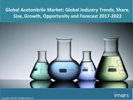 Global Acetonitrile Market Price Trends, Size, Share, Report And Forecast 2017-2022