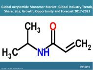Global Acrylamide Monomer Market Price Trends, Size, Share, Report And Forecast 2017-2022