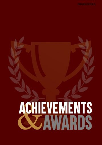ANNUAL REPORT 2016 achievement and awards page