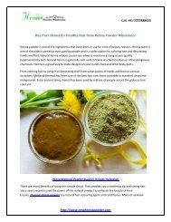 Buy Pure Henna Powder for Healthy Hair from Henna Powder Wholesaler