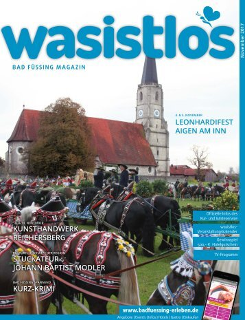 wasistlos Bad Füssing-Magazin November 2017