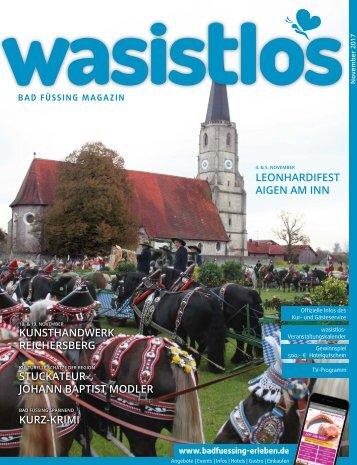 wasistlos Bad Füssing-Magazin November 2017