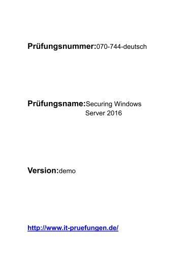 070-744-deutsch zertifizierungen prüfung
