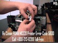 Fix  Canon PIXMA MX320 Printer Error Code 5B00