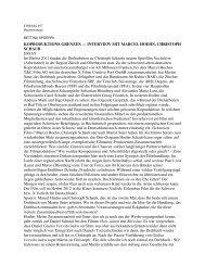 Cinema #57 Koporduktions-Grenzen: Schaub + Hoehn
