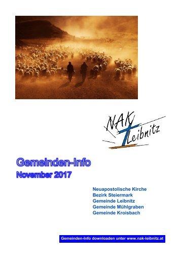 Gemeindeinfo November 2017