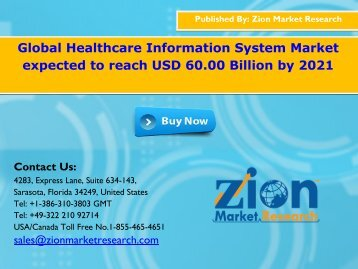 Global Healthcare Information System Market, 2016 – 2021