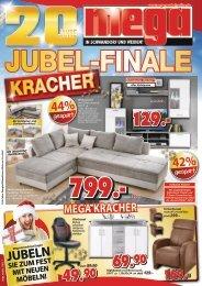 Jubel-Finale: jetzt kommen die Kracher! mega Möbel in Schwandorf und Weiden