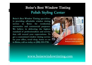 professional commercial window tinting service