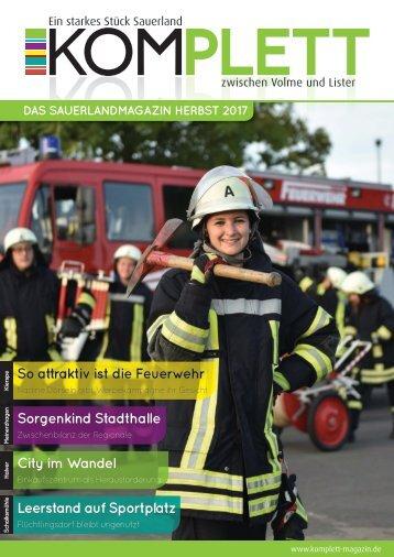Komplett. Das Sauerlandmagazin. Zwischen Volme und Lister. Ausgabe Herbst 2017