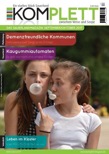 Komplett. Das Sauerlandmagazin. Zwischen Verse und Sorpe. Ausgabe September/Oktober 2017