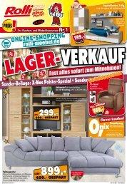 Lagerverkauf + Polster-Spezial bei Rolli-SB-Möbelmarkt in 65604 Elz bei Limburg