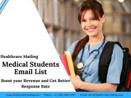 Medical Students Email List