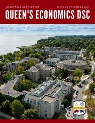 Queen's Economics DSC Quarterly Newsletter: Issue 1