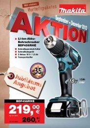 Makita: AKTION September-Dezember - Bosch-Service Goslar