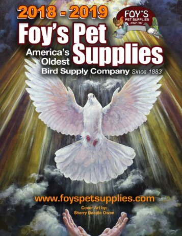 2018-2019 Foy's Pet Supplies Catalog