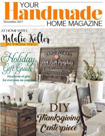 Your Handmade Home Magazine November 2017