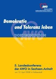 Dokumentation der Landeskonferenz 2008 - AWO Sachsen-Anhalt