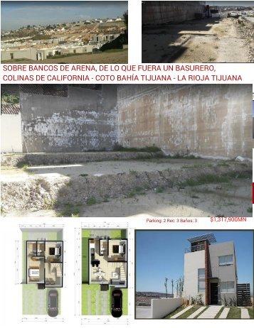 COTO BAHIA VENTA DE CASAS CON ROOF GARDEN MODELO ONIX TRES RECAMARAS COLINAS DE CALIFORNAI TIJUANA