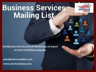 Business Services Mailing List | Business Services Marketing Database | Emial Marketing