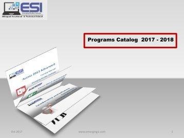 3D Flip courses catalog ESI 2017