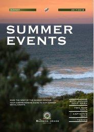 2018 Summer Events Programme
