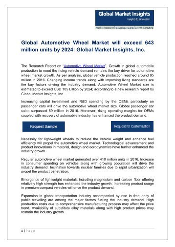Europe automotive wheel market will grow over 4