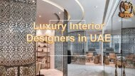 Luxury Interior Designer in UAE