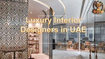 Luxury Interior Designer in UAE