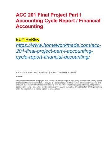 Accounting Final Exam