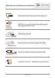 Öffentliches Verfahrensverzeichnis - Arbeiterwohlfahrt Kreisverband ...