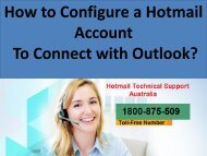 How to Configure a Hotmail Account to Connect with Outlook