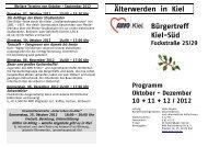 Älterwerden in Kiel Bürgertreff Kiel-Süd Fockstraße 25 ... - AWO Kiel