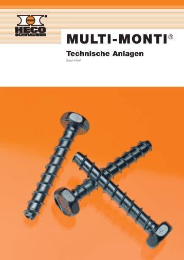 Technische Anlagen HECO-MULTI-MONTI® Inhaltsverzeichnis