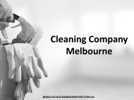 Cleaning Company Melbourne - Local Cleaning Services