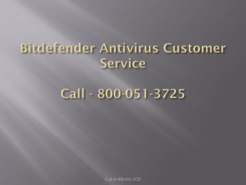 Bitdefender Antivirus Customer Service