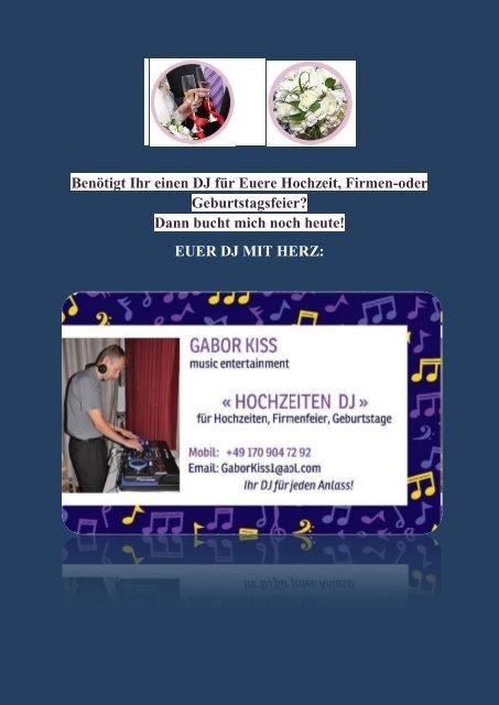 Gabor Hochzeits DJ Broschure