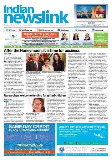 Indian Newslink NOVEMBER_ 2017 Digital Edition